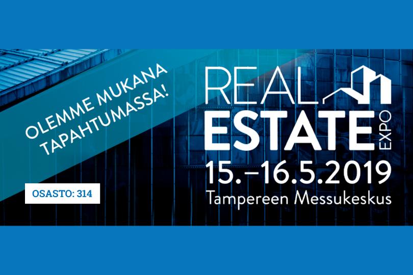 Tule tapaamaan meitä Real Estate Expo & elexpo -ammattitapahtumaan Messukeskukseen, Tampereelle 15.-16.5.2019 osastollemme 314.
